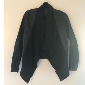 BLANKNYC Faux Leather and Knit Jacket